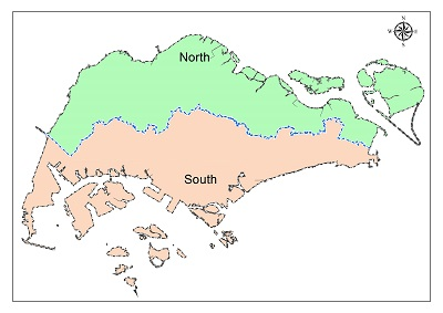 North South Coast Map