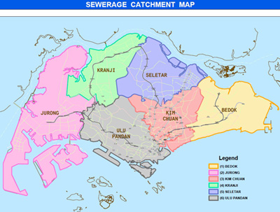 Sewerage Catchment Map