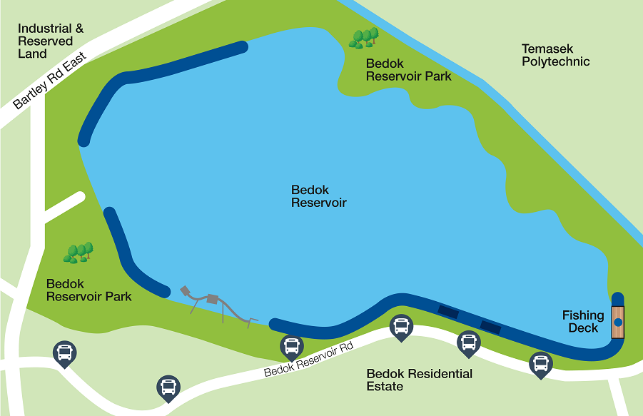 Bedok Reservoir Map