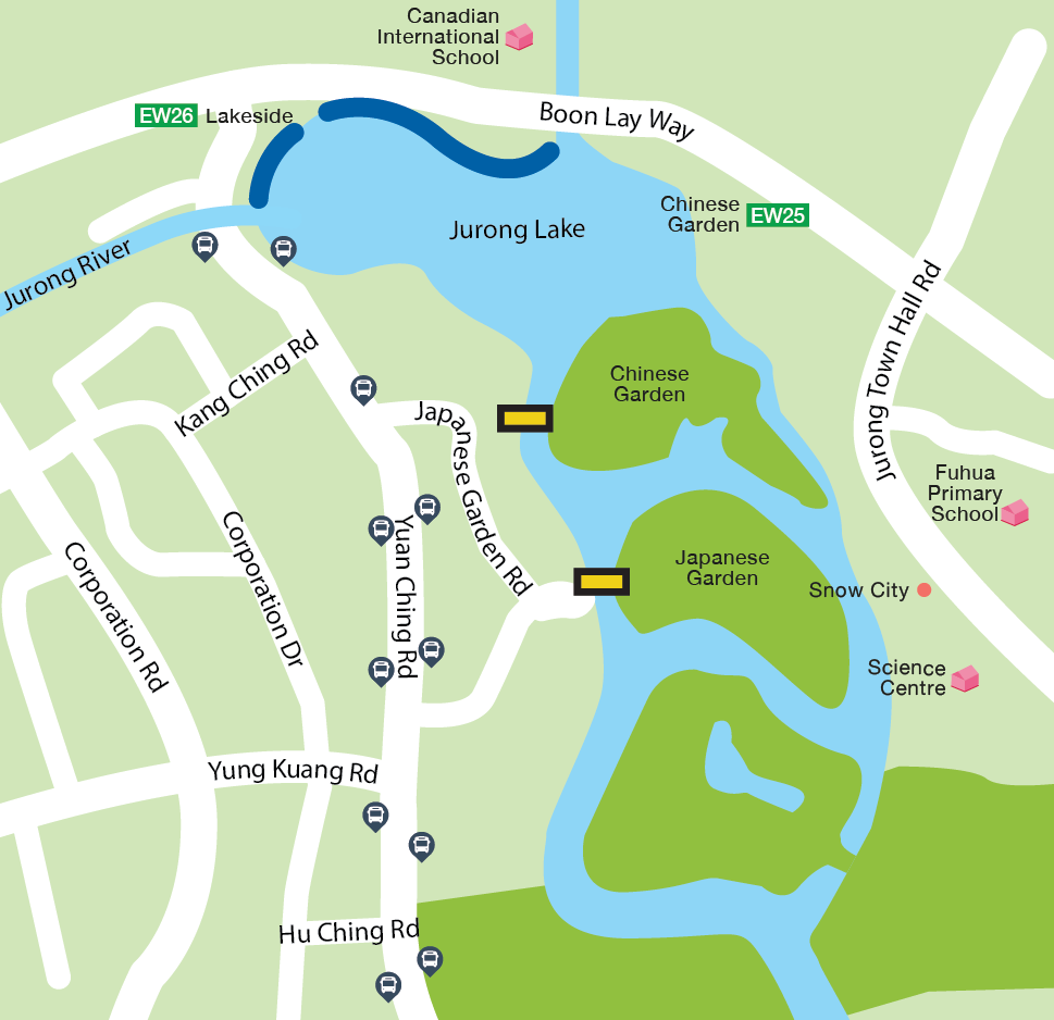 Jurong Lake Fishing Map