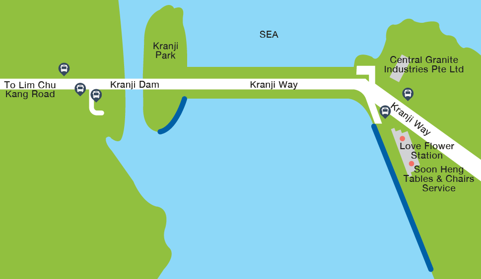 Kranji Reservoir Fishing Map