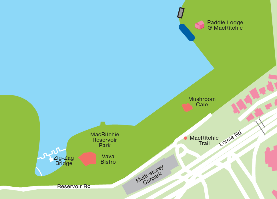 MacRitchie Reservoir Map