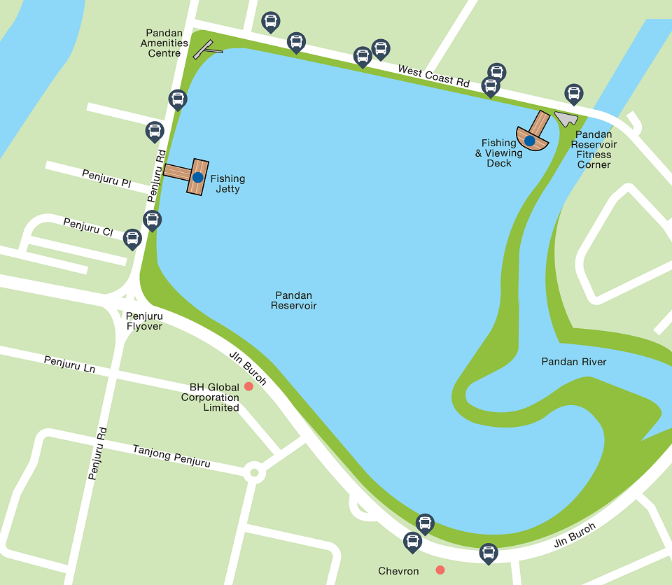 Pandan Reservoir Map
